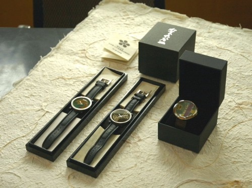 九谷焼 蒔絵 腕時計