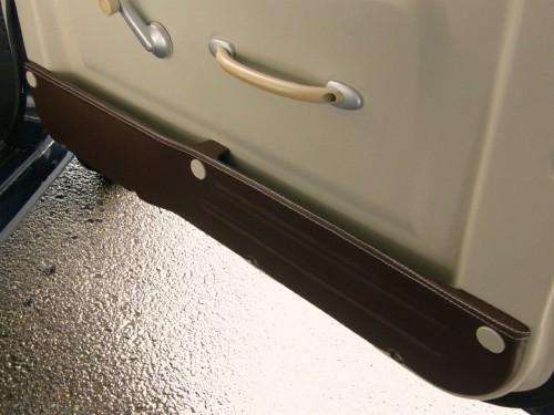 ドアポケットのレザー張りモディファイ