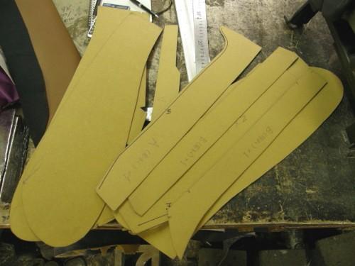 型紙を製作する