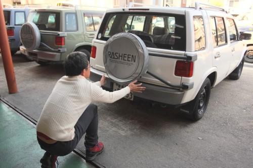 タイヤカバーが新調された。