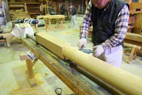 丸柱の製作