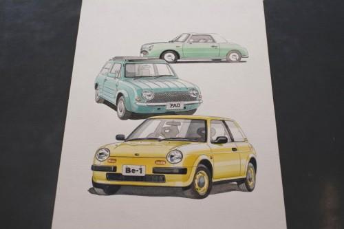 Y.kobata氏によるパイクカー水彩画