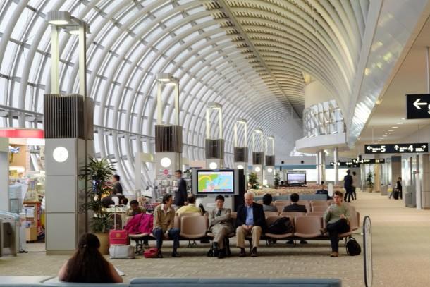 仙台空港の待合ロビー