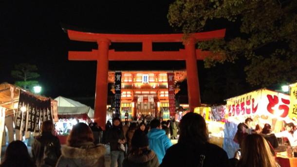 京都伏見稲荷大社の初詣