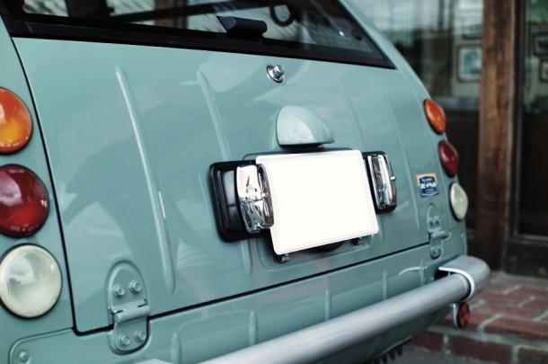 欧州車用ナンバープレート台