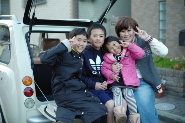ご家族とPAOの記念撮影