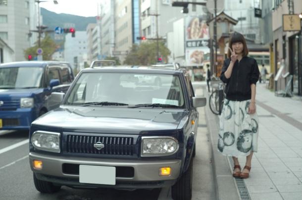 善光寺ストリートで記念撮影
